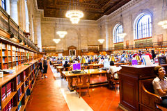 Inside famous New York Public Library Royalty Free Stock Image