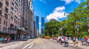 Free NEW YORK CITY - JUNE 2013: Streets Of Midtown Manhattan With Tall Buildings. The City Attracts 50 Million People Every Year Royalty Free Stock Photo - 80950095