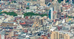 NEW YORK CITY - JUNE 9, 2013: Aerial view of Midtown skyscrapers stock photos