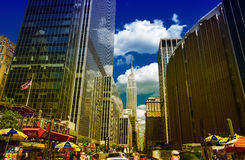 NEW YORK CITY - JUNE 12, 2013: Beautiful view of Manhattan buidl Royalty Free Stock Photos