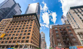 NEW YORK CITY - JUNE 2013: Buildings of Midtown Manhattan from 5 Royalty Free Stock Photo