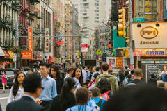 NEW YORK CITY - JUNE 16: Chinatown with an estimated population Stock Images