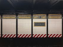 Fulton Street Subway Station - New York City Royalty Free Stock Image