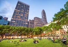 NEW YORK CITY - JUNE 2013: Manhattan tall buildings surrounding Stock Images