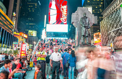 NEW YORK CITY - JUNE 12, 2013: Night view of Times Square lights Royalty Free Stock Image