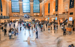 NEW YORK CITY - JUNE 10, 2013: People commute during busy mornin Stock Image