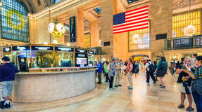 NEW YORK CITY - JUNE 10, 2013: People commute during busy mornin Royalty Free Stock Photos