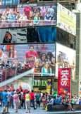 NEW YORK CITY - JUNE 2013: Times Square in Midtown. New York attracts 50 million people every year.  stock photos