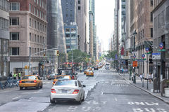 NEW YORK CITY - JUNE 14 2015: town congested street and avenue Stock Photo