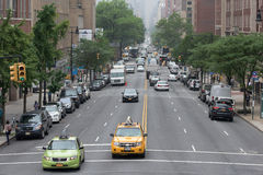 NEW YORK CITY - JUNE 14 2015: town congested street and avenue Royalty Free Stock Photos