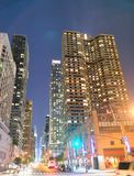 NEW YORK CITY - JUNE 14, 2013: Traffic in Midtown at night. New Royalty Free Stock Images