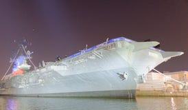 NEW YORK CITY - JUNE 14, 2013: USS Intrepid (CV/CVA/CVS-11), is Stock Images