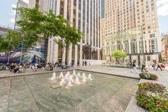 NEW YORK CITY - 12. JUNI 2013: Außenansicht von Apple Store auf t Lizenzfreie Stockfotos