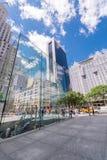 NEW YORK CITY - 12. JUNI 2013: Außenansicht von Apple Store auf t Lizenzfreie Stockfotografie