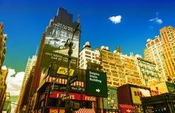 NEW YORK CITY - JUNI 11, 2013: Byggnader av New York som sett för Arkivfoto