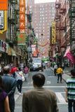 NEW YORK CITY - JUNI 16: Kineskvarter med en beräknad befolkning Arkivfoto