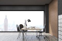 New York City kontor med dokumentskåpet Arkivfoto