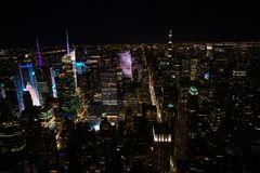 New York City la nuit Images stock