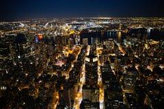 New York City la nuit Photographie stock
