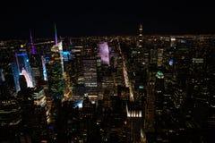 New York City la nuit Photographie stock libre de droits