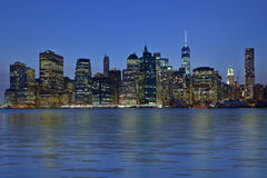 New York City la nuit Photos stock