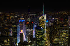 New York City la nuit d'Empire State Building Images libres de droits