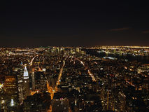 New York City la nuit de l'Empire State Building, 2008 Photographie stock libre de droits