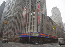 New York City landmark, Radio City Music Hall in Rockefeller Center Royalty Free Stock Images