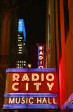 New York City landmark  Radio City Music Hall in Rockefeller Center Royalty Free Stock Images