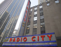 New York City landmark, Radio City Music Hall in Rockefeller Center Royalty Free Stock Photography