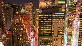 NEW YORK CITY, le 9 octobre 2014 - coucher du soleil à Manhattan banque de vidéos