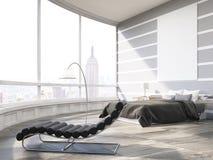 New York City ledar- sovrum i modern lägenhet Royaltyfria Foton