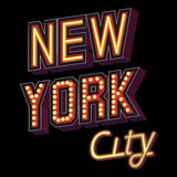 New York City lettering Royalty Free Stock Images