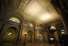 New York City Library. Entrance hall at the New York City Library stock image
