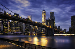 New York  City lights Stock Images