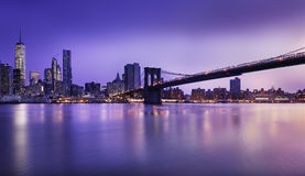 New York  City lights Stock Photography