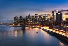 New York  City lights Stock Photos