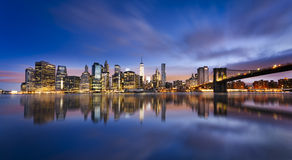 New York  City lights Royalty Free Stock Images