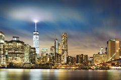 New York  City lights Royalty Free Stock Photos
