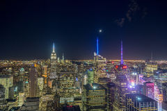 New York City Lights. Shot from the top of the rock Royalty Free Stock Image
