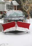New York City listo para limpia después de que la tormenta masiva Juno de la nieve pegue al noreste Foto de archivo libre de regalías