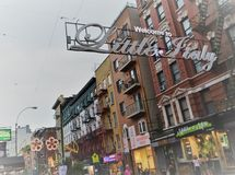 New York City Little Italy Lower East Side Chinatown Tourism stock photo
