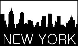 New York City logo. Skyline of New York City Royalty Free Stock Image