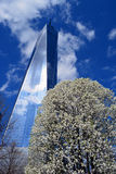 New York City. Looking up at World Trade Center Tower One royalty free stock photos