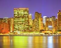 New York City, los E.E.U.U. en la puesta del sol Foto de archivo libre de regalías