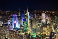 New York City, los E.E.U.U. - Nueva York de la parte alta y Times Square Imagenes de archivo