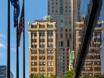 New York City/los E.E.U.U. - 18 de julio de 2018: Edificios financieros del distrito fotos de archivo libres de regalías