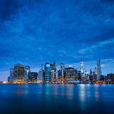 New York City - Lower Manhattan in blue morning Stock Photography