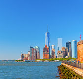 New York City lower Manhattan Stock Image