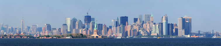 New York City lower Manhattan skyline Stock Photography